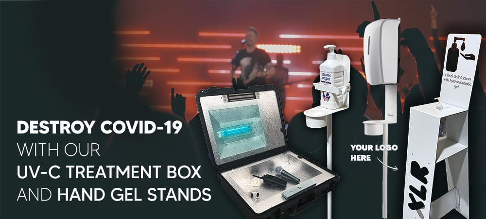 Keep The Safety Level High With Our UV-C Treatment Box And Personalised Disinfectant Stands 1
