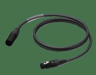 Procab PRD955 – 10m DMX 2-pair cable -XLR male – XLR female – HighFlex