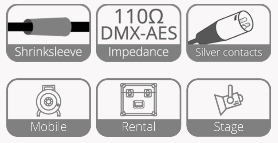 Procab PRD955 - 10m DMX 2-pair cable -XLR male - XLR female - HighFlex | XLR