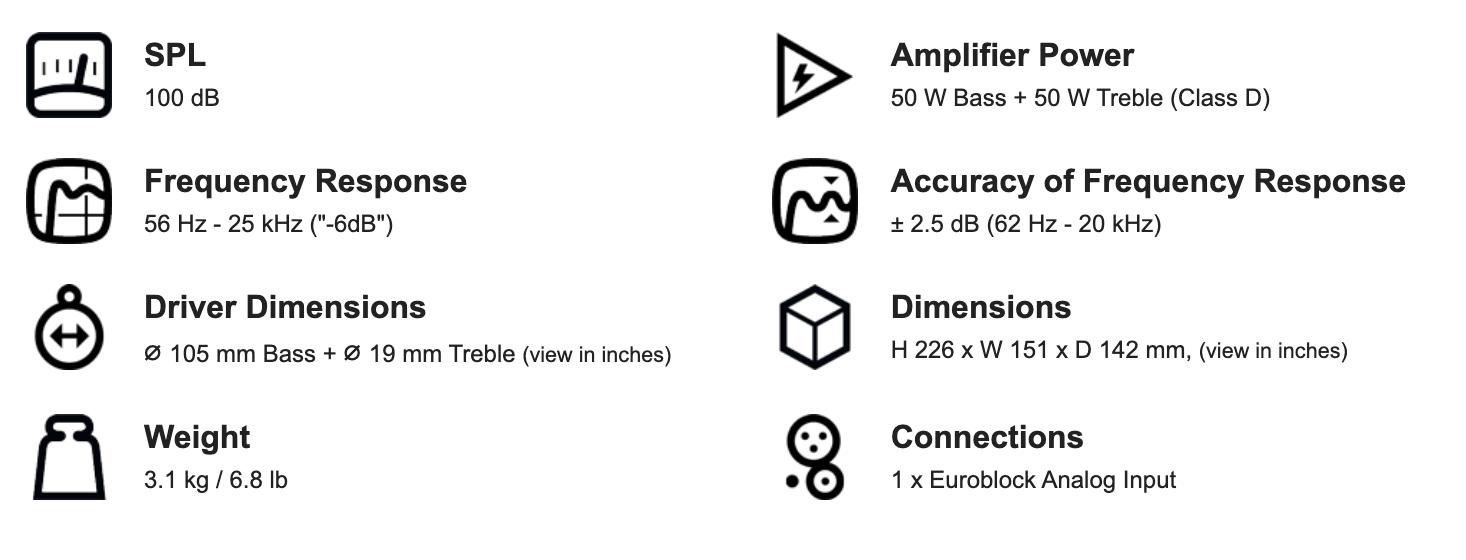 "Genelec 4020B 4"" Two-Way Active Loudspeaker | XLR"