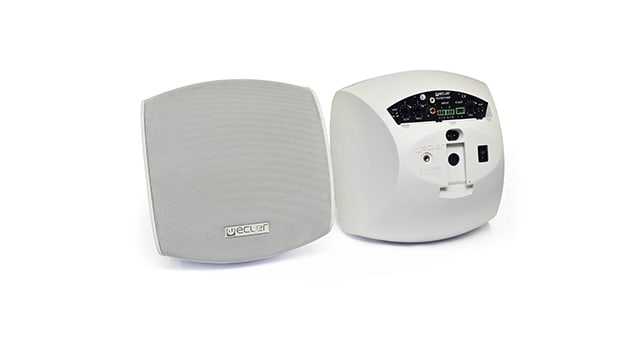 Ecler AUDEO106P Self-Powered Loudspeaker Cabinet - White 3
