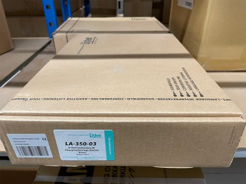Listen LA-350 - 8-Unit IR Charging/Storage Station 4